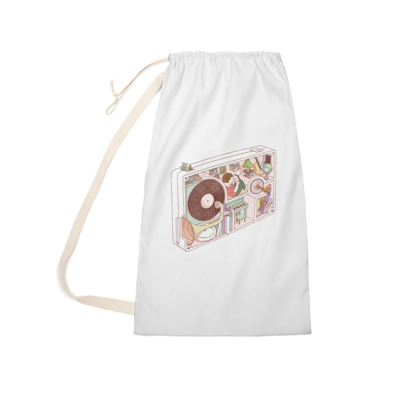 inside analog Accessories Laundry Bag Bag by makapa's Artist Shop