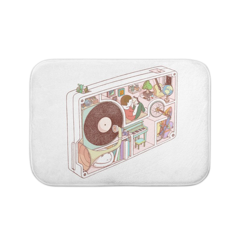 inside analog Home Bath Mat by makapa's Artist Shop