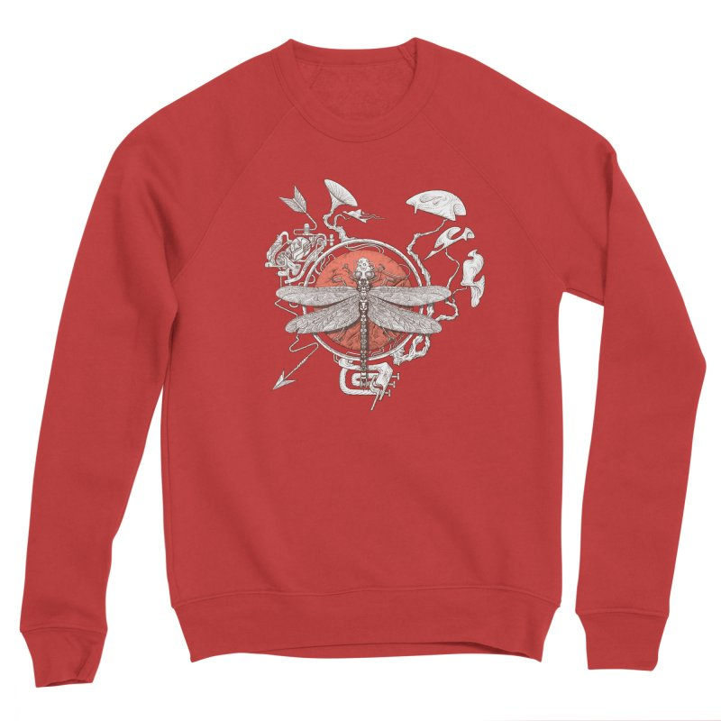 dragonfly dream Men's Sponge Fleece Sweatshirt by makapa's Artist Shop