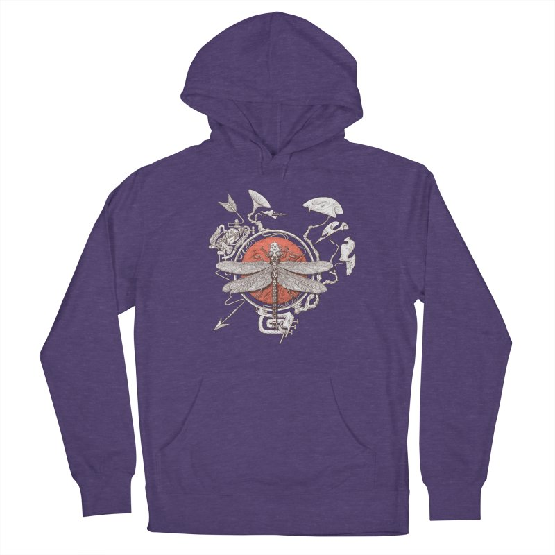 dragonfly dream Men's French Terry Pullover Hoody by makapa's Artist Shop