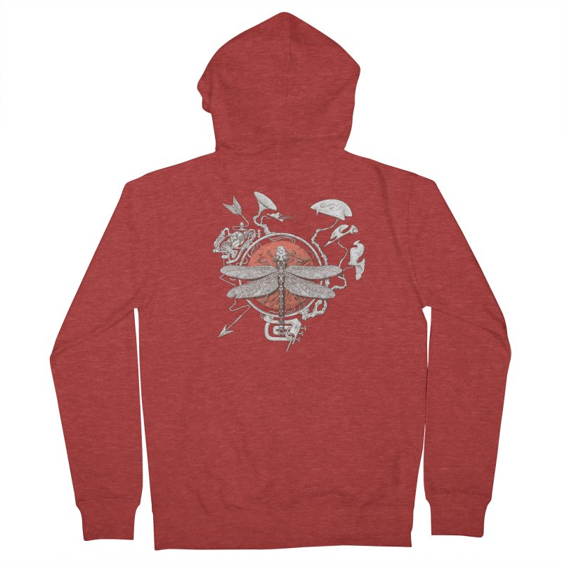 dragonfly dream Women's French Terry Zip-Up Hoody by makapa's Artist Shop