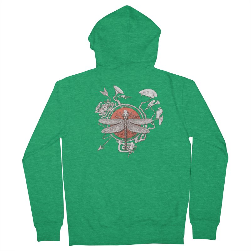 dragonfly dream Men's French Terry Zip-Up Hoody by makapa's Artist Shop