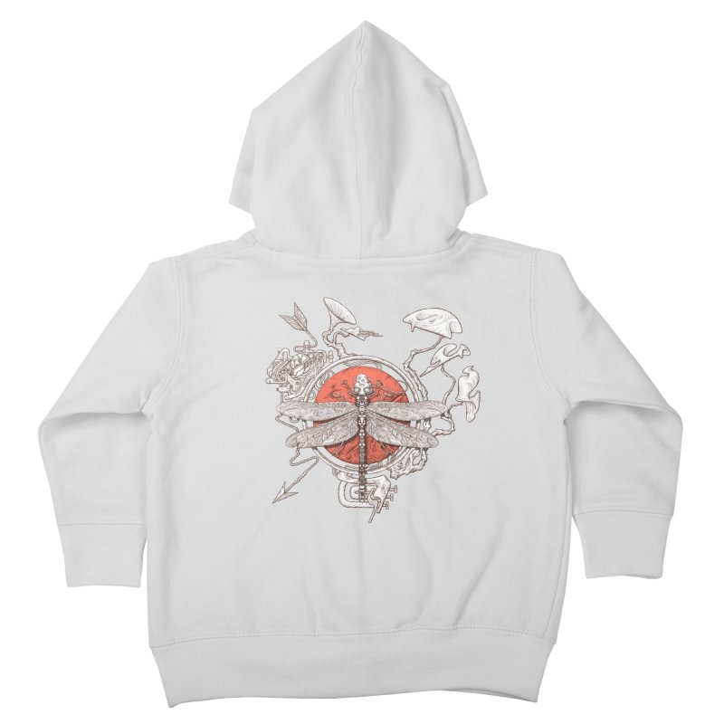 dragonfly dream Kids Toddler Zip-Up Hoody by makapa's Artist Shop