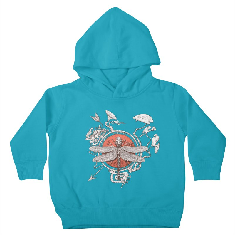 dragonfly dream Kids Toddler Pullover Hoody by makapa's Artist Shop