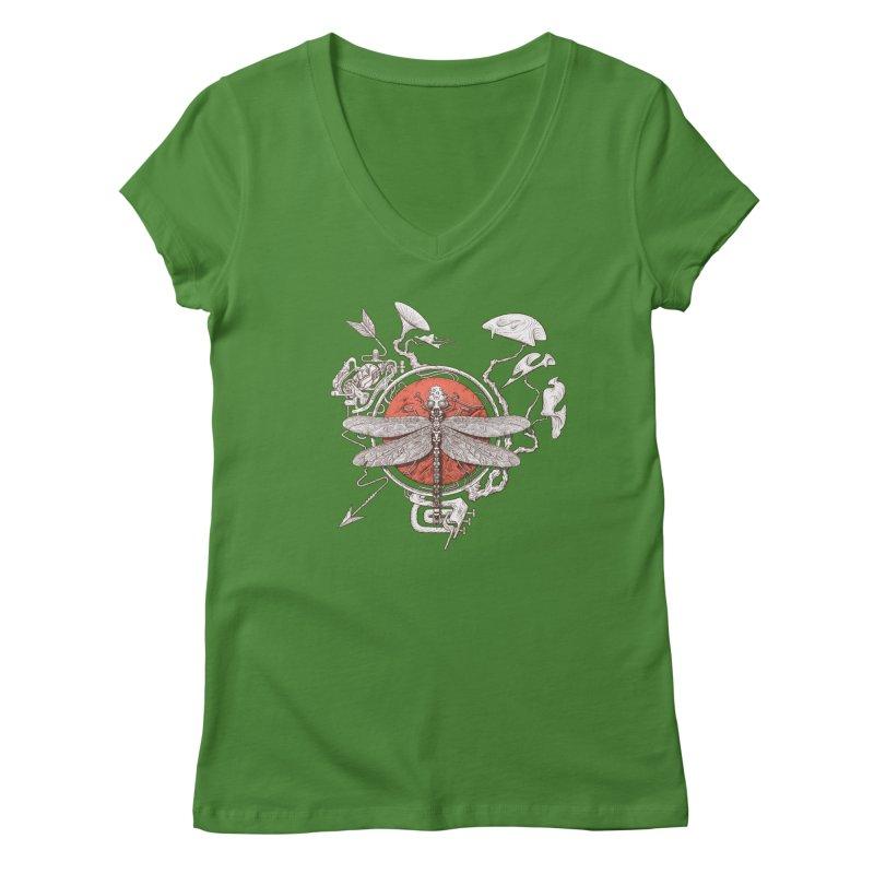 dragonfly dream Women's Regular V-Neck by makapa's Artist Shop