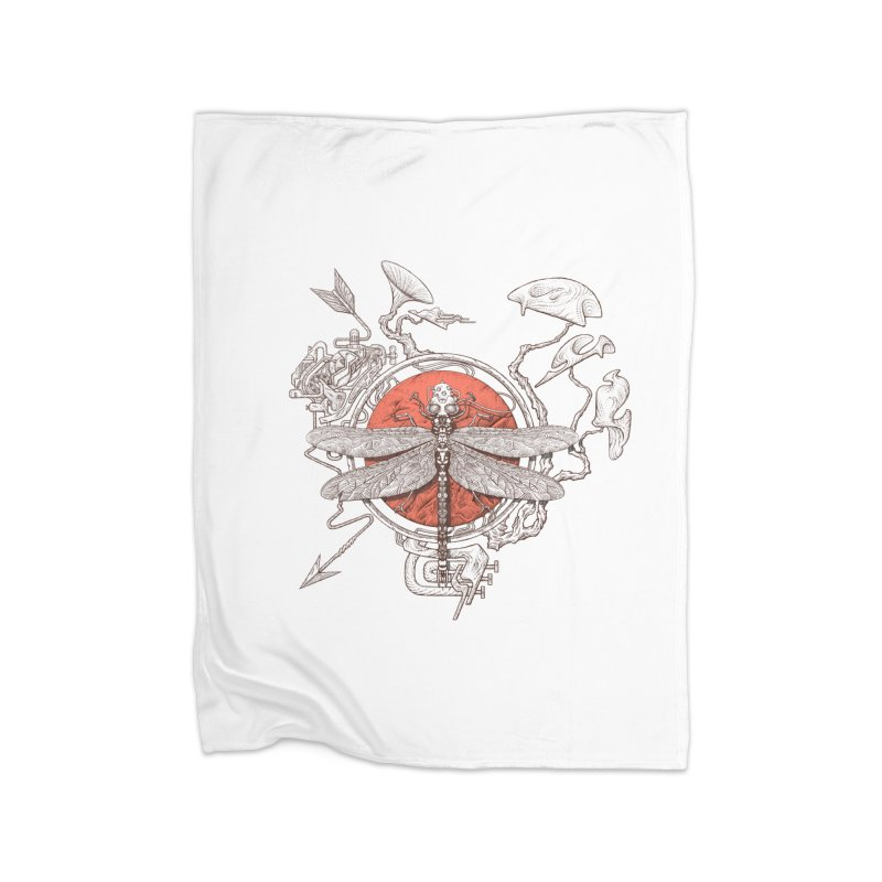 dragonfly dream Home Fleece Blanket Blanket by makapa's Artist Shop