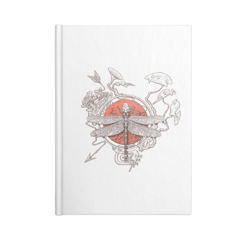 dragonfly dream Accessories Lined Journal Notebook by makapa's Artist Shop