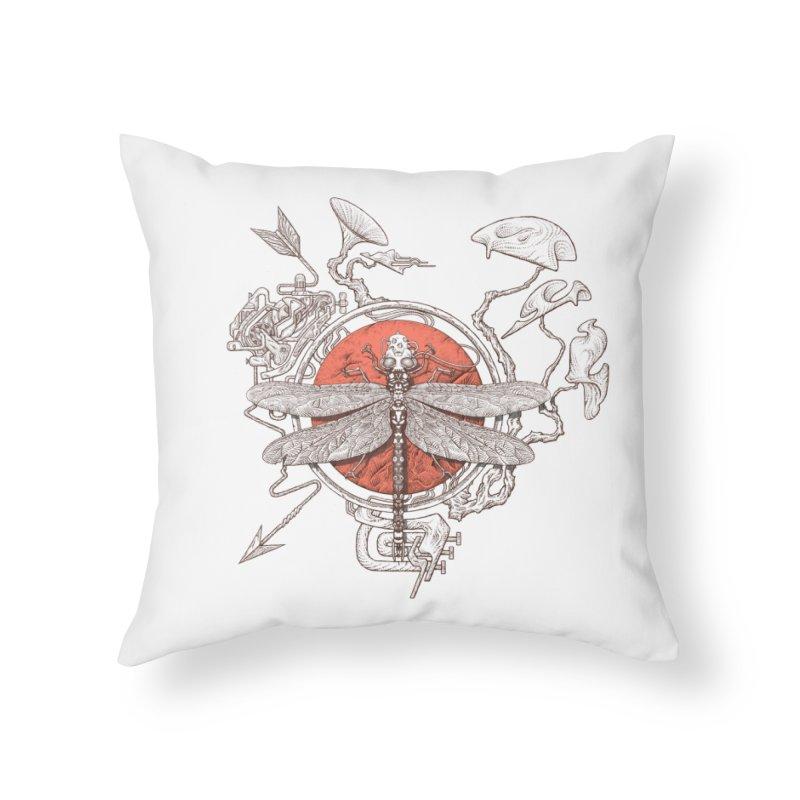 dragonfly dream Home Throw Pillow by makapa's Artist Shop