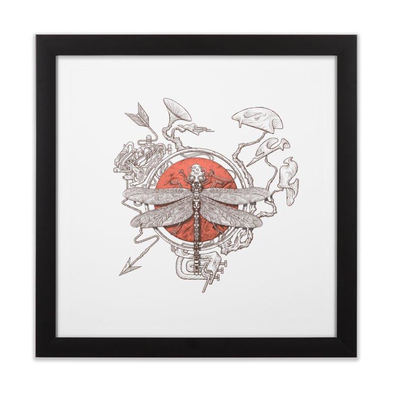 dragonfly dream Home Framed Fine Art Print by makapa's Artist Shop