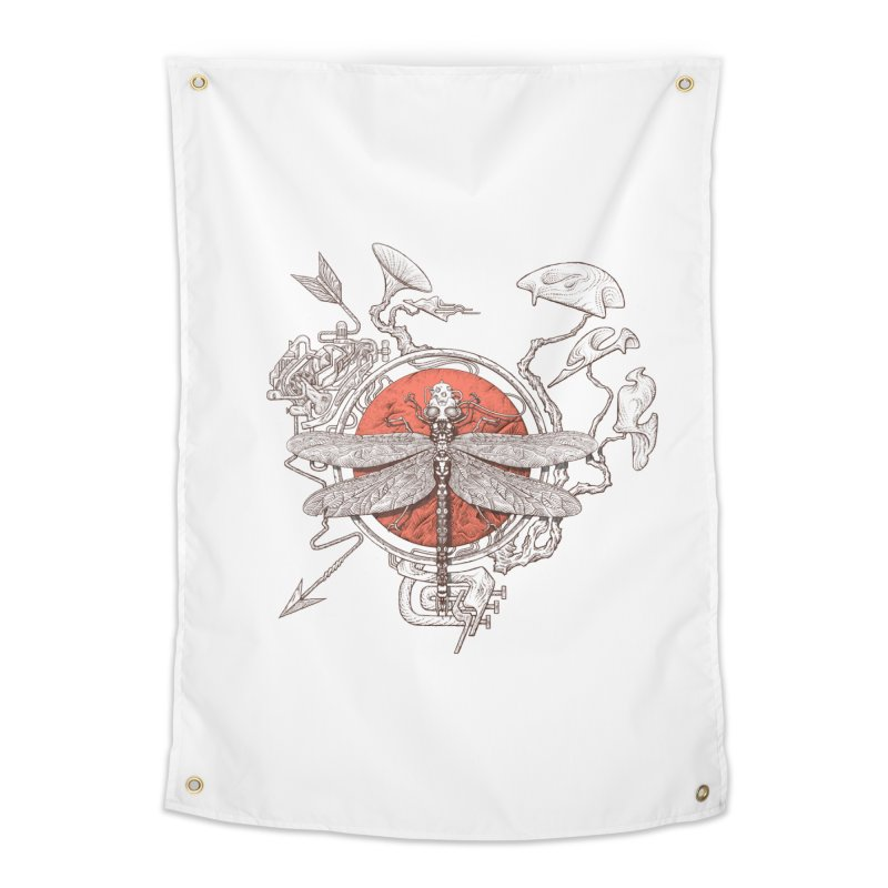 dragonfly dream Home Tapestry by makapa's Artist Shop