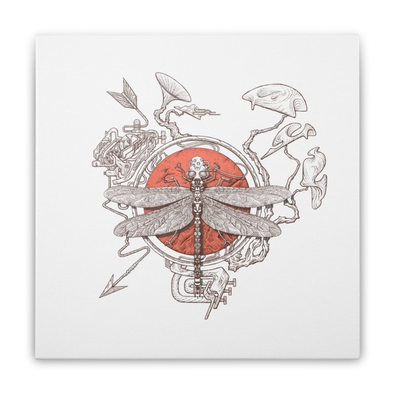 dragonfly dream Home Stretched Canvas by makapa's Artist Shop
