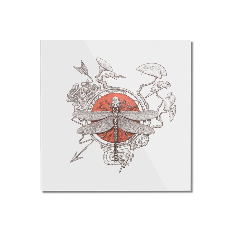 dragonfly dream Home Mounted Acrylic Print by makapa's Artist Shop