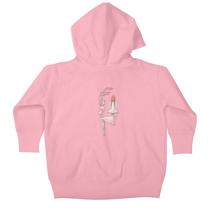 Zen gravity Kids Baby Zip-Up Hoody by makapa's Artist Shop