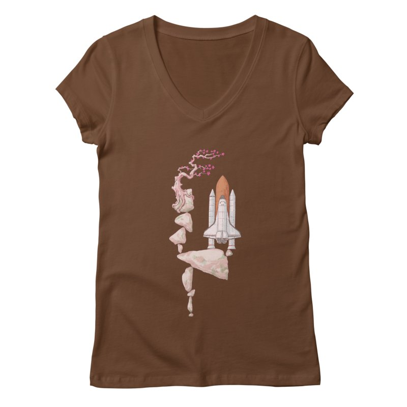 Zen gravity Women's Regular V-Neck by makapa's Artist Shop