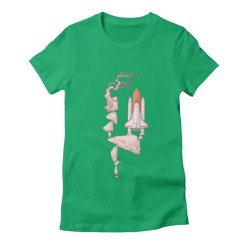 Zen gravity Women's Fitted T-Shirt by makapa's Artist Shop