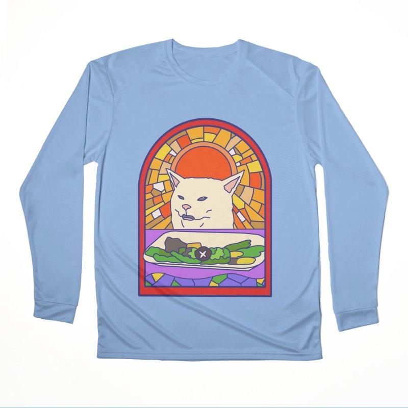 Vegan cat Men's Performance Longsleeve T-Shirt by makapa's Artist Shop