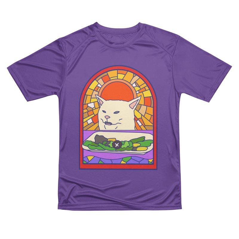 Vegan cat Women's Performance Unisex T-Shirt by makapa's Artist Shop