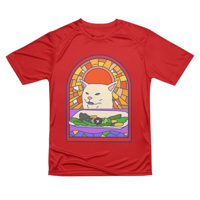 Vegan cat Men's Performance T-Shirt by makapa's Artist Shop