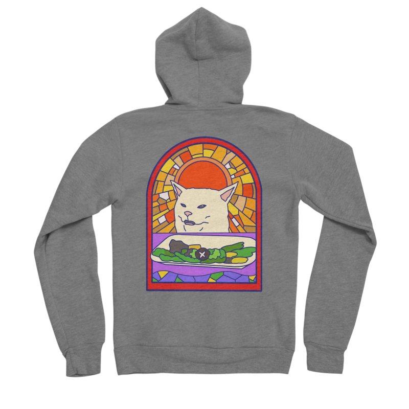 Vegan cat Women's Sponge Fleece Zip-Up Hoody by makapa's Artist Shop