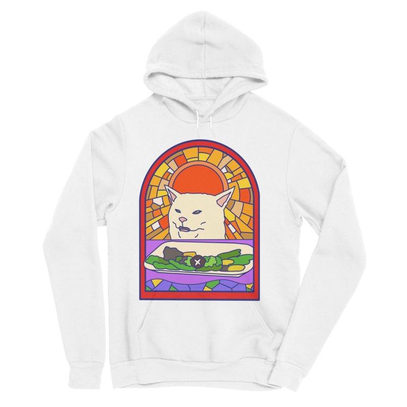 Vegan cat Women's Sponge Fleece Pullover Hoody by makapa's Artist Shop
