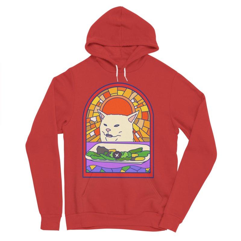 Vegan cat Men's Pullover Hoody by makapa's Artist Shop