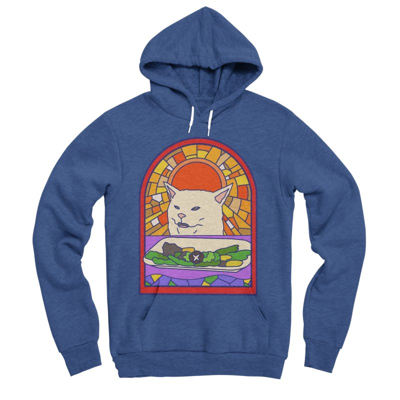 Vegan cat Men's Sponge Fleece Pullover Hoody by makapa's Artist Shop