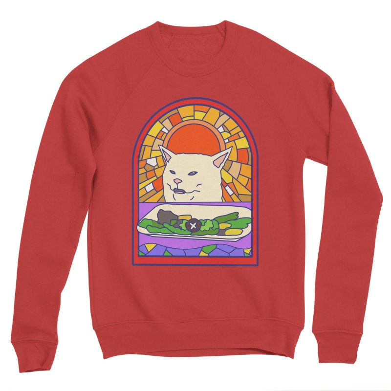 Vegan cat Men's Sponge Fleece Sweatshirt by makapa's Artist Shop