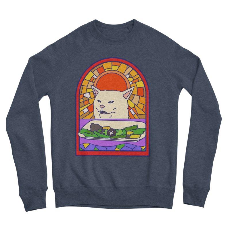 Vegan cat Men's Sponge Fleece Sweatshirt by makapa's Artist Shop