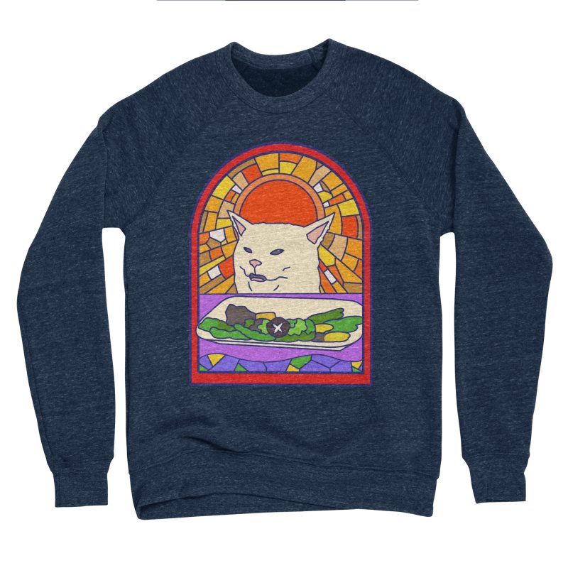 Vegan cat Men's Sweatshirt by makapa's Artist Shop