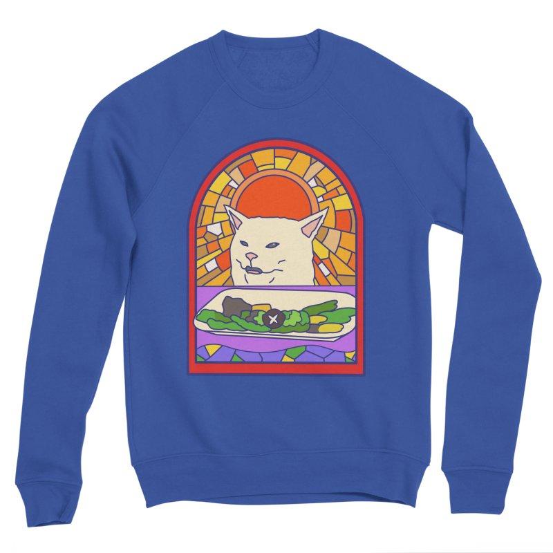 Vegan cat Women's Sponge Fleece Sweatshirt by makapa's Artist Shop
