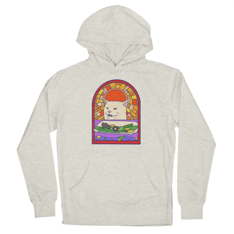 Vegan cat Men's French Terry Pullover Hoody by makapa's Artist Shop