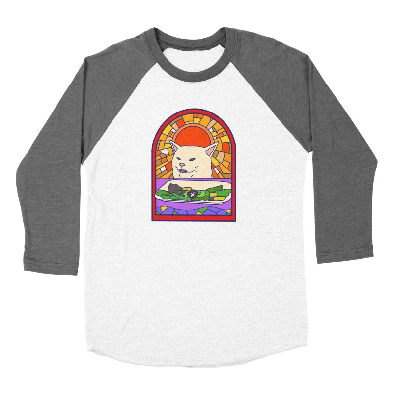 Vegan cat Women's Longsleeve T-Shirt by makapa's Artist Shop
