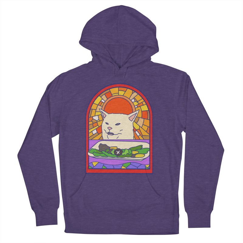 Vegan cat Women's French Terry Pullover Hoody by makapa's Artist Shop