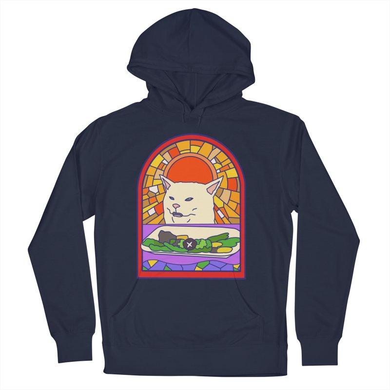 Vegan cat Women's French Terry Pullover Hoody by makapa's Artist Shop