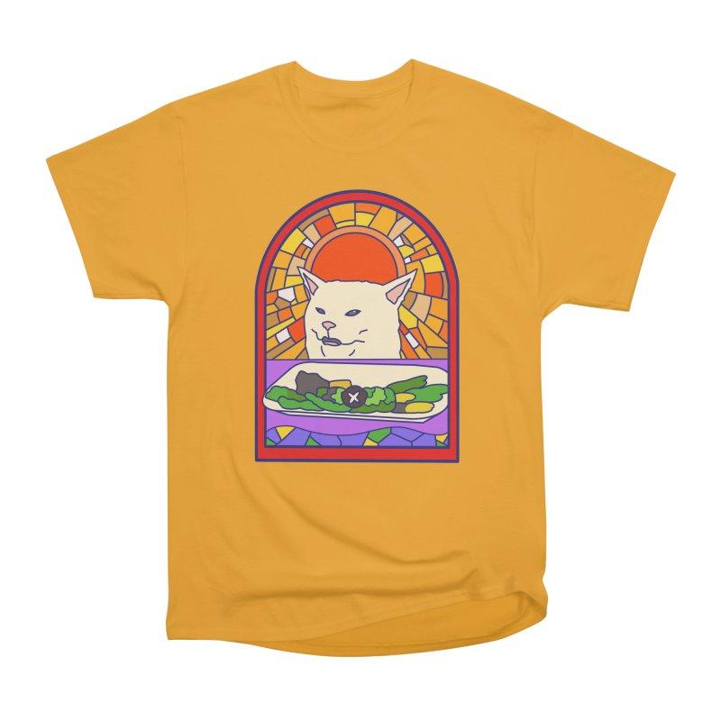 Vegan cat Women's Heavyweight Unisex T-Shirt by makapa's Artist Shop