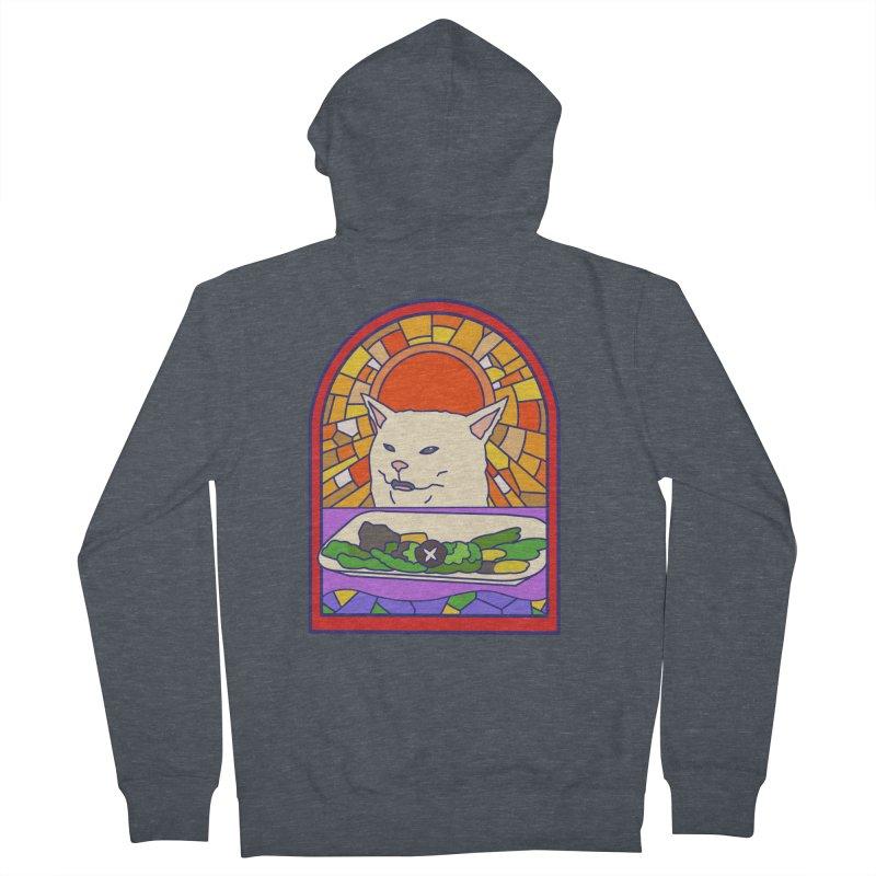 Vegan cat Men's Zip-Up Hoody by makapa's Artist Shop