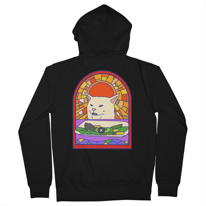Vegan cat Men's Zip-Up Hoody by makapa's Artist Shop