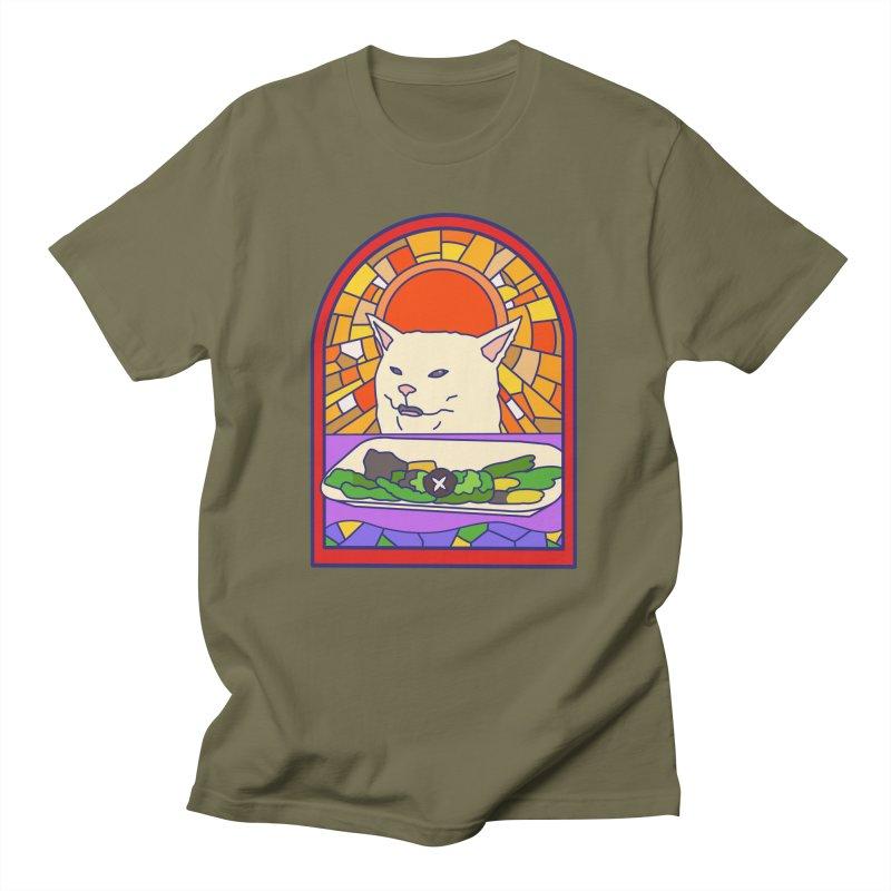 Vegan cat Men's Regular T-Shirt by makapa's Artist Shop