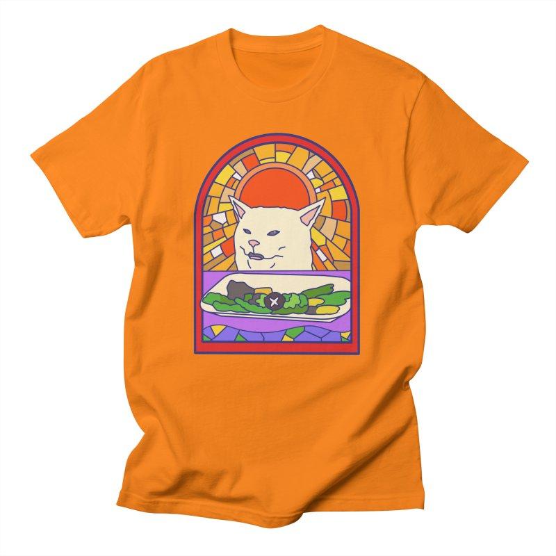 Vegan cat Men's T-Shirt by makapa's Artist Shop