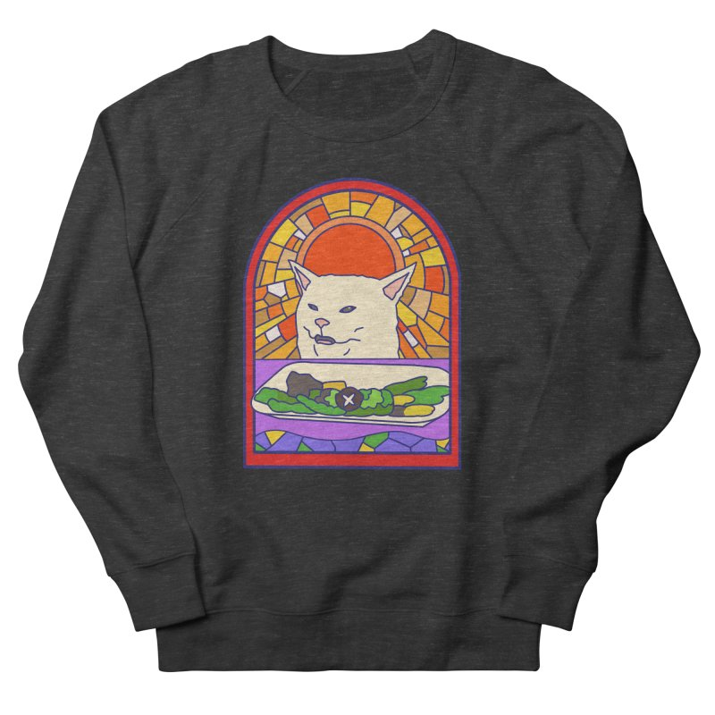 Vegan cat Women's French Terry Sweatshirt by makapa's Artist Shop