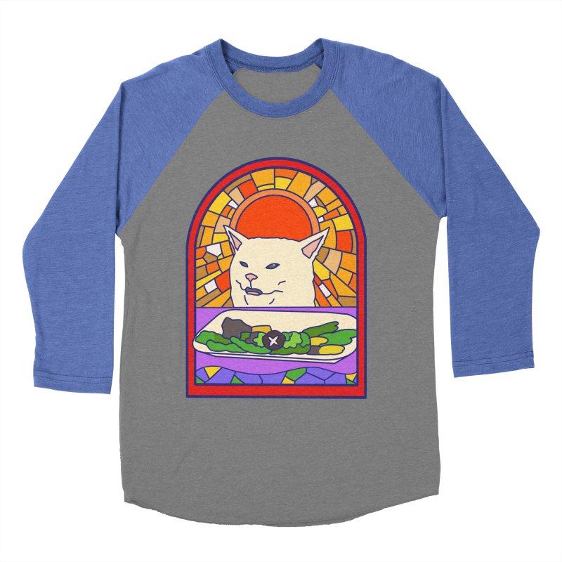 Vegan cat Women's Baseball Triblend Longsleeve T-Shirt by makapa's Artist Shop