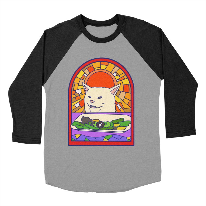Vegan cat Women's Baseball Triblend Longsleeve T-Shirt by makapa's Artist Shop