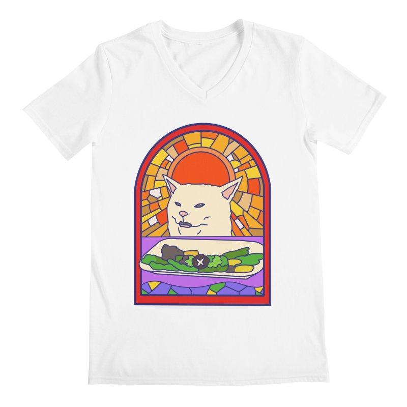 Vegan cat Men's V-Neck by makapa's Artist Shop