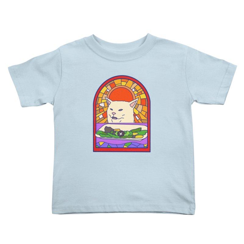 Vegan cat Kids Toddler T-Shirt by makapa's Artist Shop