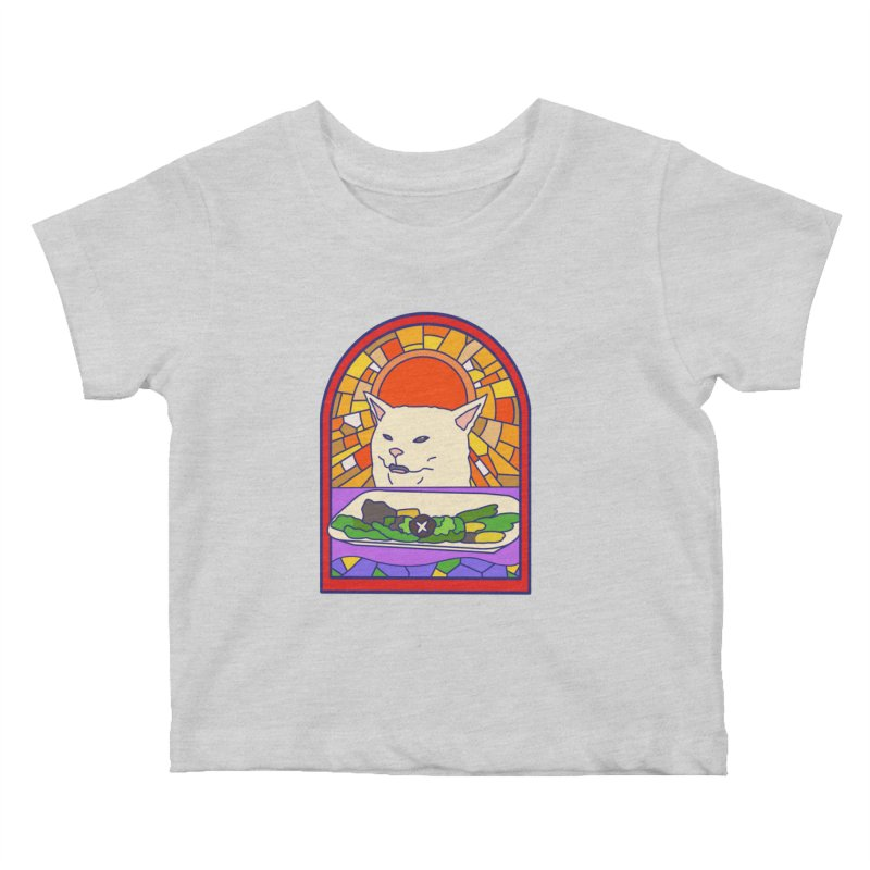 Vegan cat Kids Baby T-Shirt by makapa's Artist Shop