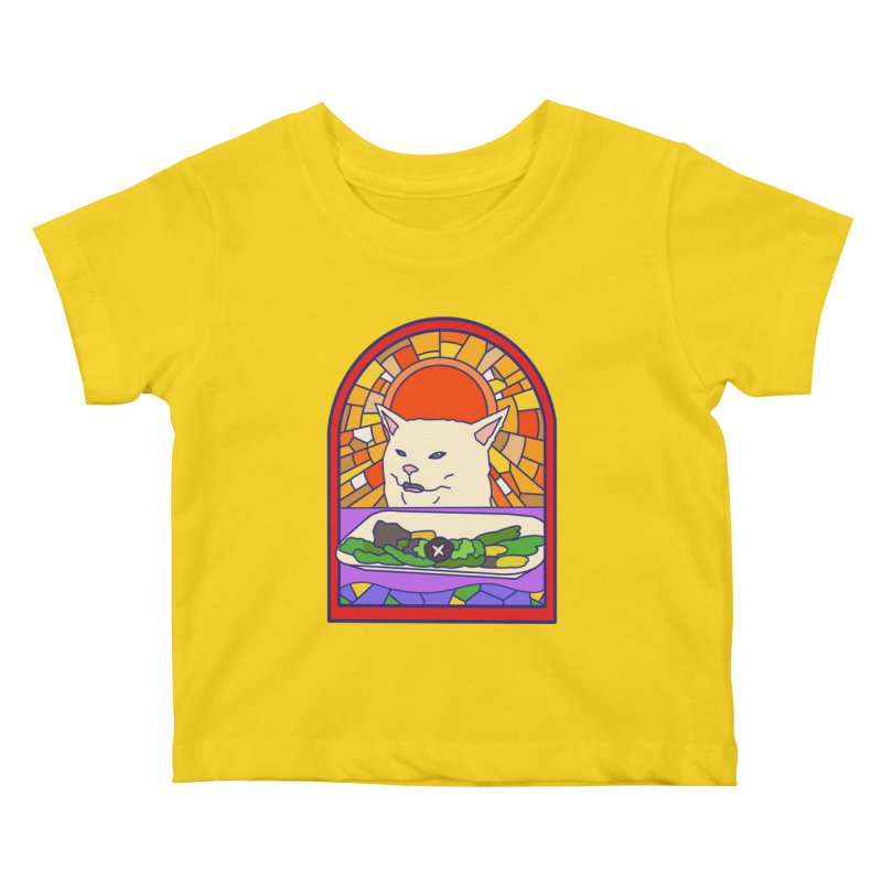 Vegan cat Kids Baby T-Shirt by makapa's Artist Shop