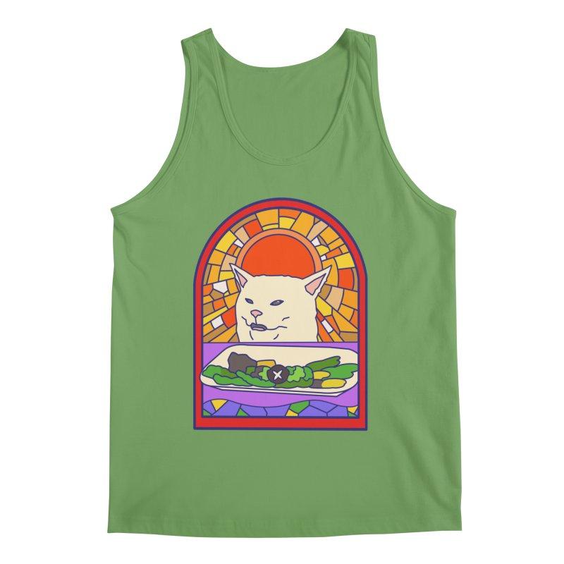 Vegan cat Men's Tank by makapa's Artist Shop
