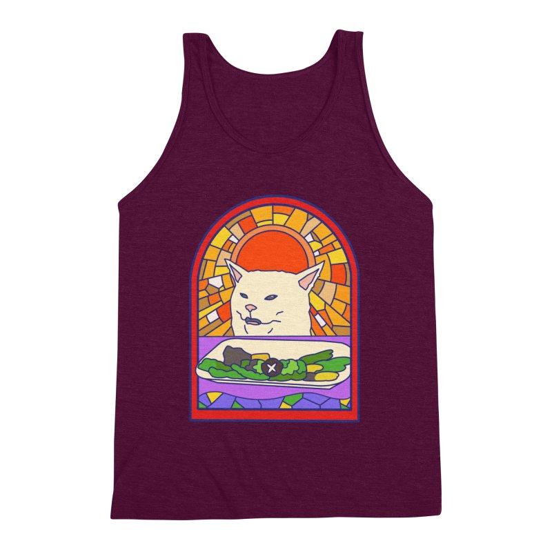Vegan cat Men's Triblend Tank by makapa's Artist Shop