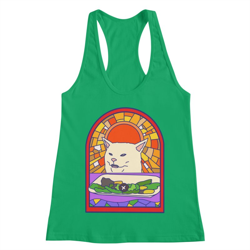 Vegan cat Women's Racerback Tank by makapa's Artist Shop