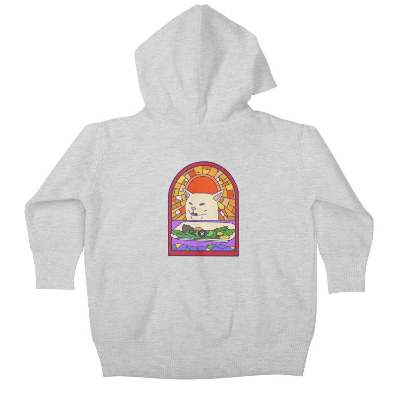 Vegan cat Kids Baby Zip-Up Hoody by makapa's Artist Shop